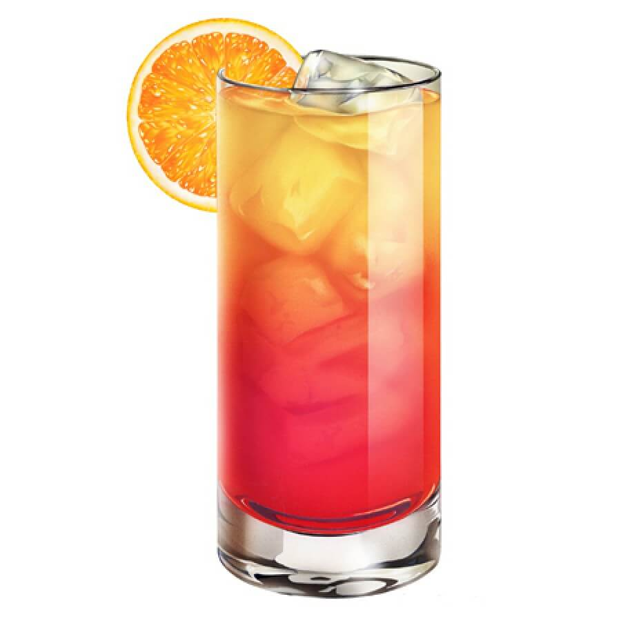 Sunrise tequila delicious recipe from shavan 39 s for Best tequila for tequila sunrise